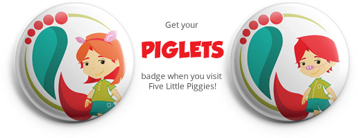 Piglets badges